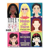 《 美國 Melissa & Doug 》超大貼紙本系列 - 超大時尚化妝貼紙本 ╭★ JOYBUS歡樂寶貝