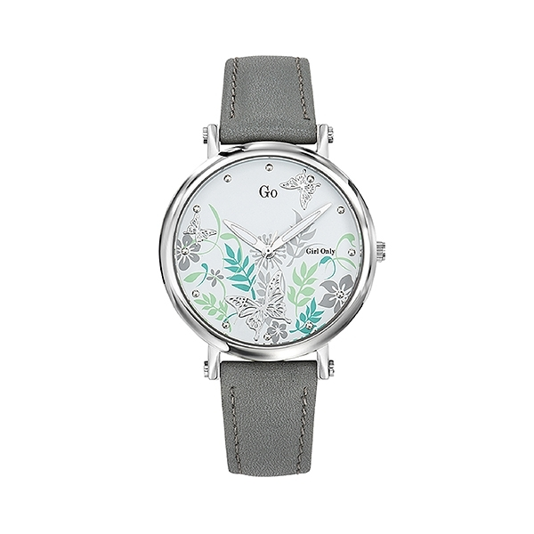 【Go Girl Only】蝶飛系列法國浪漫時尚腕錶-質感灰/699099/台灣總代理原廠公司貨享兩年保固