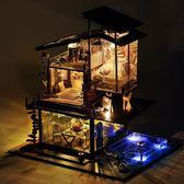 小屋巴倫西亞海岸創意手工製作房子模型別墅拼裝玩具生日禮物【販衣小築】