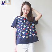 【下殺↘5折】American Bluedeer - 小鳥拼接上衣 春夏新款