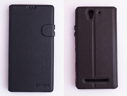 gamax Sony Xperia C3(D2533) 磁扣側翻手機保護皮套 商務二代 插卡內TPU軟殼全包防摔