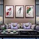 中式裝飾畫客廳壁畫玄關墻畫現代餐廳飯廳有...