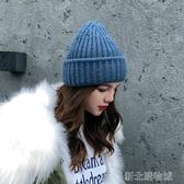 冬帽女帽子女冬韓版潮洋氣毛線帽秋冬韓國時尚潮人顯臉小英倫保暖針織帽 新北購物城