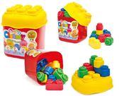【義大利 Clemmy】軟膠積木桶 20 pcs→大塊 積木 兒童 玩具 批發 軟 安全 團購 彌月 禮盒