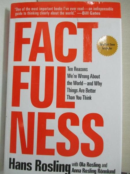 【書寶二手書T1/社會_LAP】Factfulness-Ten Reasons We re Wrong About..._Rosling