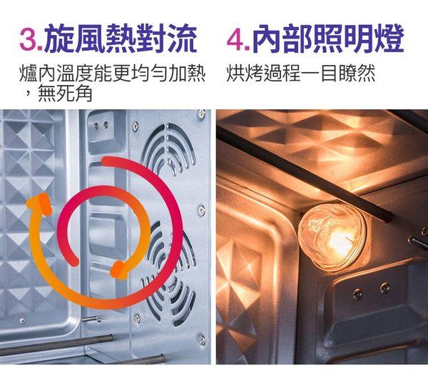 【Telefunken】德律風根45公升溫度顯示烤箱(LT-TOV1738)
