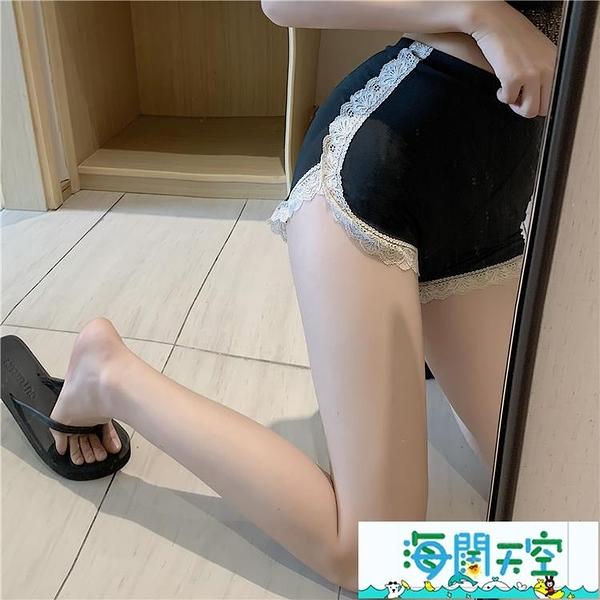 安全褲 夏季防走光安全褲蕾絲邊打底褲女士可外穿褲子高腰短褲保險褲女裝 【海闊天空】