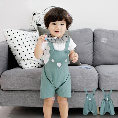 短褲  可愛小熊時尚背帶純棉舒適短褲 S55017