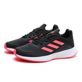 ADIDAS 慢跑鞋 DURAMO SL 黑 橘紅 網布 運動 女 (布魯克林) FX7301