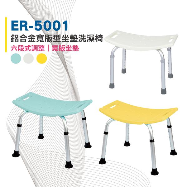 【免運】恆伸醫療器材 ER-5001洗澡椅 防滑設計衛浴設備 老人孕婦淋浴(腳管可調整高低 三色可選)