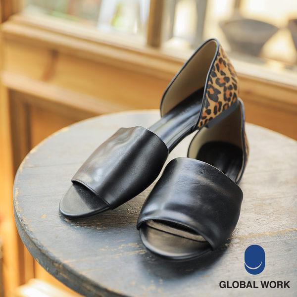 GLOBAL WORK女素面編織平底涼鞋便鞋-四色