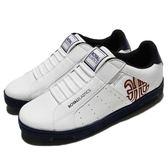 Royal Elastics 休閒鞋 Icon Alpha 白 藍 金LOGO 無鞋帶設計 皮革鞋面 男鞋【PUMP306】 02081012