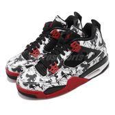 Nike Air Jordan 4 Retro GS Tattoo 白 黑 紅 喬丹 四代 女鞋 大童鞋 【PUMP306】 BV7451-006