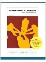 二手書博民逛書店《Contemporary Management》 R2Y IS