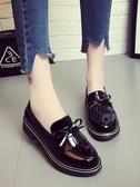 新品單鞋女春季新款粗跟中跟英倫風學生森女繫小皮鞋 聖誕交換禮物