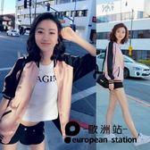 外套/薄女寬鬆飛行員夾克短款棒球服「歐洲站」