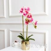 蝴蝶蘭仿真盆栽 花客廳保濕假花北歐花藝套裝小擺件裝飾擺設 BF23320『寶貝兒童裝』
