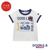 DOUBLE_B 日本製 衝浪短袖T恤(白)