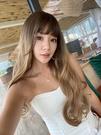 全頂假髮 歐美大波浪長捲髮 時尚卡其色 C8285 魔髮樂