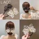 盤髪器 2020韓國新款丸子頭波點蝴蝶結盤髮器網紅懶人珍珠鉆編髮造型神器