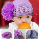 花朵蕾絲針織帽 適合6M-24M 橘魔法 Baby magic 現貨 女童 針織帽 帽子