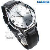 CASIO 卡西歐 MTP-V002L-7B 指針錶 數字時刻 日期顯示窗 皮帶 男錶 防水手錶 白色 MTP-V002L-7BUDF
