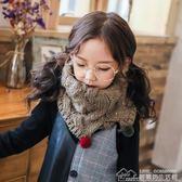 兒童秋冬季圍巾男童女童韓版針織毛線保暖寶寶套頭圍脖毛球加厚潮 居樂坊生活館