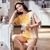 【預購款】居家服夏季新款純棉睡衣套裝女短袖短褲甜美兩件套可外穿8878#【時尚潮流部落】