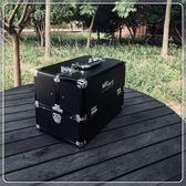 專業手提紋繡箱美容美甲工具箱大號多功能鋁合金化妝箱多層收納箱MBS「時尚彩虹屋」