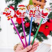 【BlueCat】聖誕節閃閃發亮迷人平面老人原子筆 圓珠筆