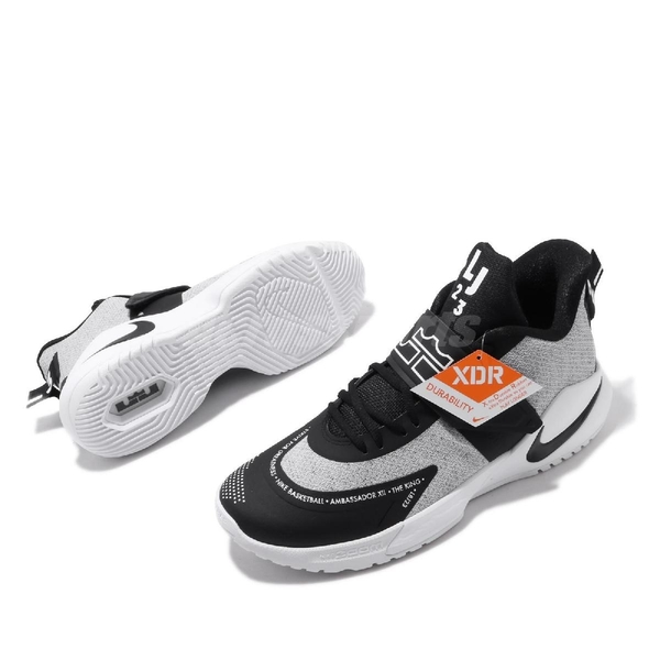 Nike 籃球鞋 Ambassador XII 黑 白 男鞋 運動鞋 12代 LeBron James 【ACS】 BQ5436-005