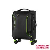 AT美國旅行者 20吋Applite 3.0S 輕量可擴充布面TSA飛機輪登機箱(黑/綠)