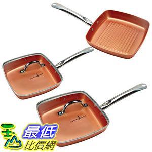 [8美國直購] 不沾鍋 Copper Chef Square Fry Pan 5 Pc set B072PYSXK5