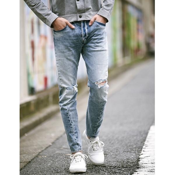 Levis 男款 上寬下窄 / 502 Taper牛仔褲 / LEJ 3D褲 / 淺藍