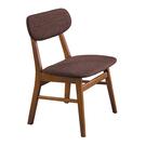 【森可家居】凱夫淺胡桃咖啡布餐椅 8HY466-05 北歐風
