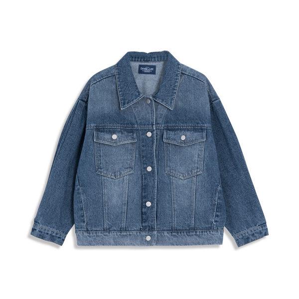 Queen Shop【02050245】深淺刷色剪接牛仔外套*現+預*