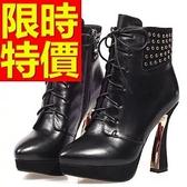 真皮短靴-獨特流行高雅低跟女靴子1色62d36[巴黎精品]