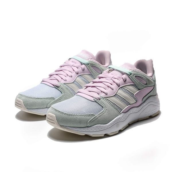 ADIDAS CRAZYCHAOS 粉紫綠 米白 麂皮 復古 休閒 老爹鞋 女(布魯克林) 2019/5月 EF1048