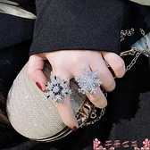 戒指雪花戒指旋轉女轉動網紅時尚個性輕奢小眾設計感精致高級夸張指環 芊墨