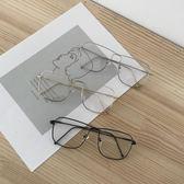 眼鏡框女韓版潮素顏大框復古眼鏡軟妹圓臉金絲邊眼睛鏡框