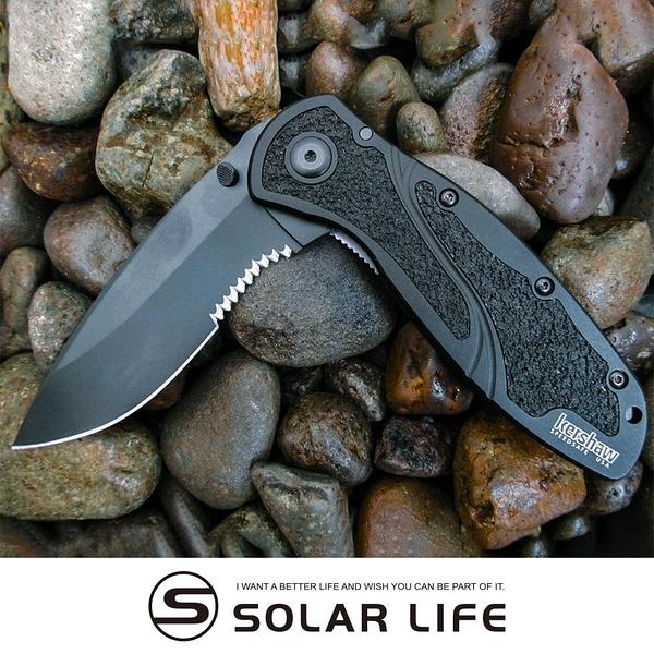 Kershaw Blur黑刃半齒折刀(1670BLKST).不鏽鋼折刀 EDC口袋刀 隨身工具小刀 多用折疊刀具