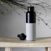 HYDY 雲灰-黑瓶 時尚保溫水瓶 590ml