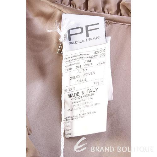 PAOLA FRANI 褐色皺褶蝴蝶結飾洋裝 0910203-28