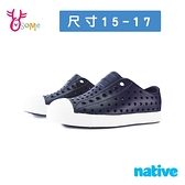 native水鞋 寶寶童鞋 男女童鞋 奶油頭 洞洞鞋 休閒鞋 懶人鞋 JEFFERSON L9493#藍色◆OSOME奧森鞋業