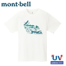 【Mont-Bell 日本WIC.T NACS-J 自然協會短袖排汗T恤 《白》】1114368/排汗衣/圓領衫