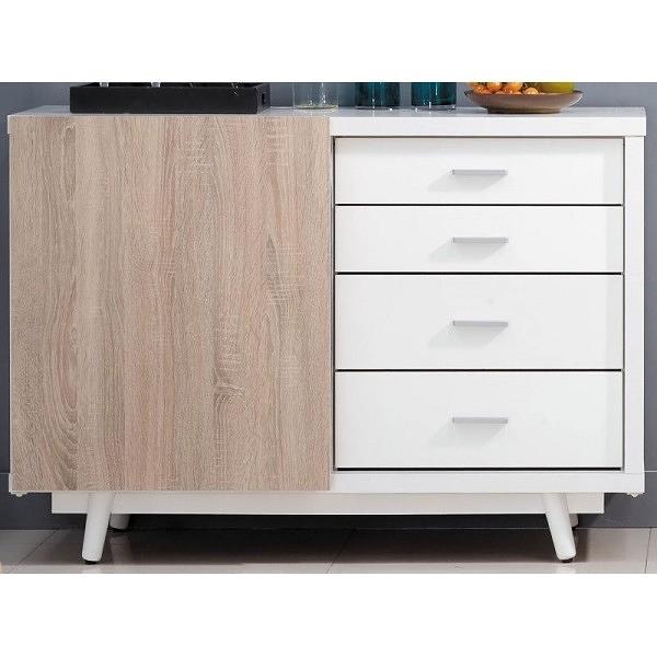 櫥櫃 餐櫃 AM-486-1 小北歐4尺推門餐櫃【大眾家居舘】