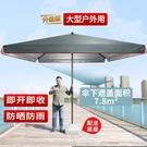 大型太陽傘 太陽傘遮陽傘大雨傘擺攤商用超大號大型戶外四方傘棚庭院傘防夾手