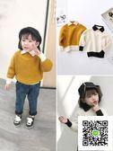 女童毛衣  加厚童裝Polo領毛衣女童高領針織衫兒童洋氣中小童白冬裝新款 歐歐流行館