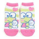 《Sanrio》大眼蛙毛巾布保暖短襪(條紋晴天娃娃)★funbox生活用品★_659479