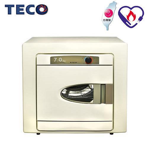福利品【TECO東元】 7公斤不鏽鋼乾衣機 QD7551NA